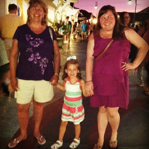 Broadway at the Beach :) Mimi, Ava & Aunt Sarah! (Taken with Instagram)