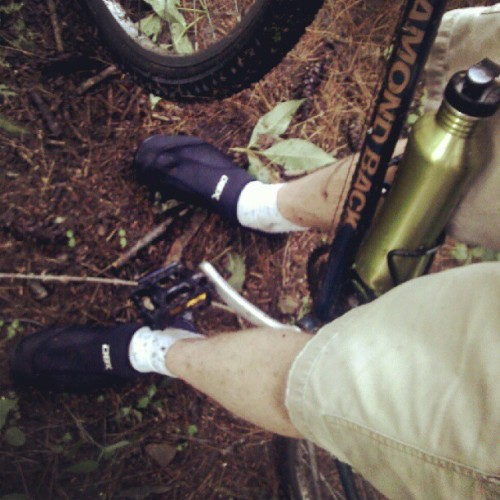 Water shoes for biking through the swamp. (Taken with Instagram)