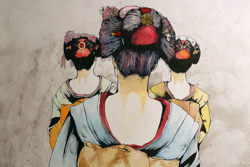 japanlove:  Geisha Girls by kaseyyann on Flickr.