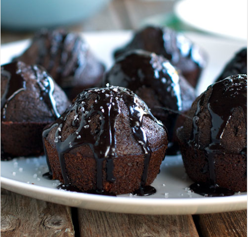 Salt Double Chocolate Muffins 1 scant cup flour 1 teaspoon baking powder 1/4 teaspoon baking soda pinch of salt 1 tablespoon cocoa powder (I used dark cocoa) 1/3 cup sugar 1/2 cup milk 2 tablespoons strong coffee 3 1/2 tablespoons vegetable oil 1 egg 1/2 teaspoon vanilla 1/2 cup chocolate chips sea salt 1/2 cup powdered sugar 1 tablespoon cocoa powder 1 tablespoon milk For recipe go | Here