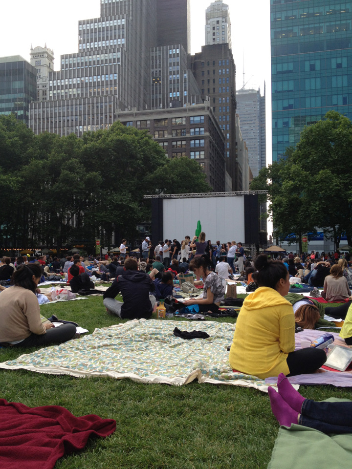 Last Monday at Bryant Park…a screening of Psycho! Didn't got today bcuz of the rain.