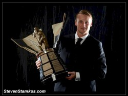 LAS VEGAS, NV – JUNE 20: Steven Stamkos of the Tampa Bay Lightning poses after winning the Maurice Richard Trophy during the 2012 NHL Awards at the Encore Theater at the Wynn Las Vegas on June 20, 2012 in Las Vegas, Nevada.