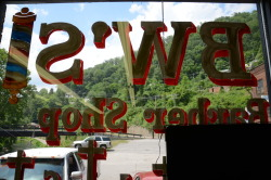 BW's Barber Shop - Welch, W.Va. - June 2012