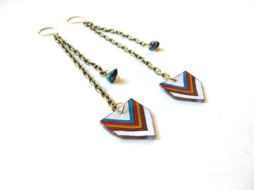 Southwestern Chevron Earrings by Etsy seller Emily Thomson
