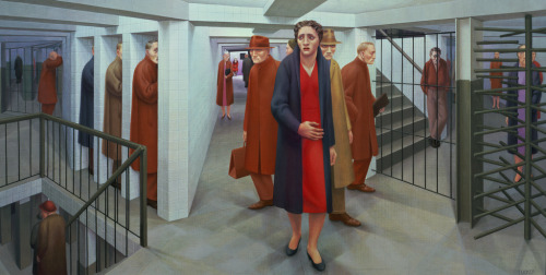 venuslibertina:  george tooker, subway, 1950