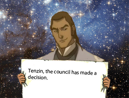 hawaiiangurl8o8:  dearkorra:  This is what Tenzin should have said when Tarrlok proposed the curfew for nonbenders. (It's an Avenger's reference.)  XD