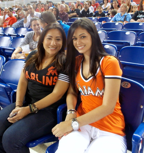 """Girls night out"" at Marlins Park! #MiamiNights #BaseballMiamiStyle"