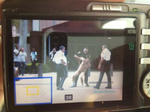 A naked man decided to jump my mom as she was leaving the courthouse, so naturally she took a picture of him.