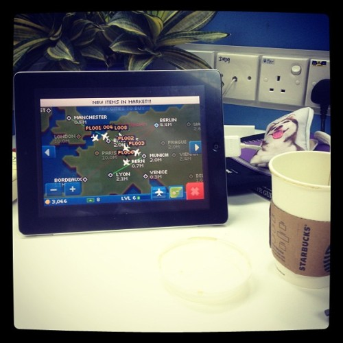 I feel like an air traffic controller with pocket planes.  (Taken with Instagram)