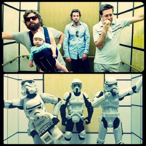 thisbeadam:  The Hangover by Mark Andrew #StarWars #TheHangover #Stormtroopers (Taken with Instagram)  The Stormtroopers Hangover