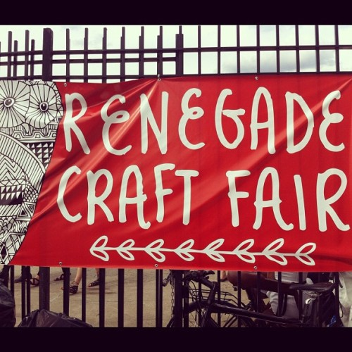 Congrats to all the artists at Renegade Craft Fair this past weekend.  Loved the selection of goodies!