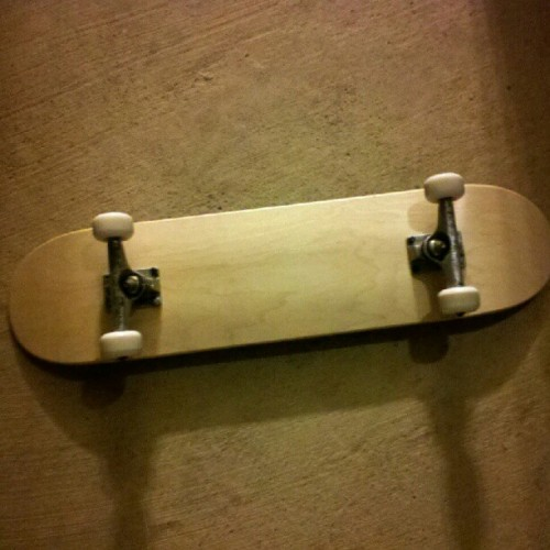 My new blank canvas. Time to go to work. #skate (Taken with Instagram)