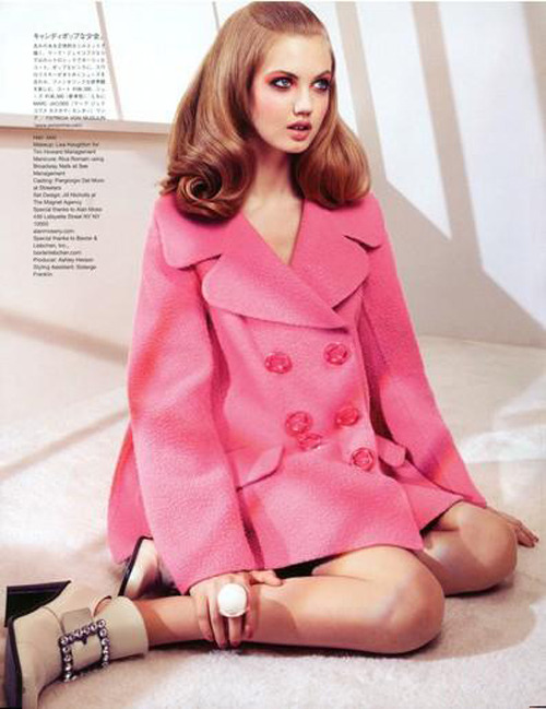 Lindsey Wixson photographed by Sharif Hamza for Vogue Nippon, August 2012