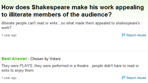 ladyofsandwiches:  renkris:  And this is why you should see the damn plays instead of just reading them.  They were meant to be performed in front of an audience.  insert every single THIS gif in existence