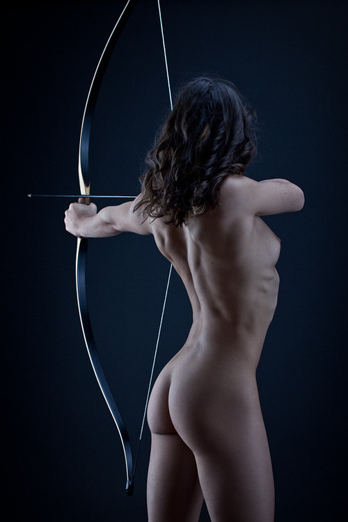 two of my passions, archery and beautiful women.