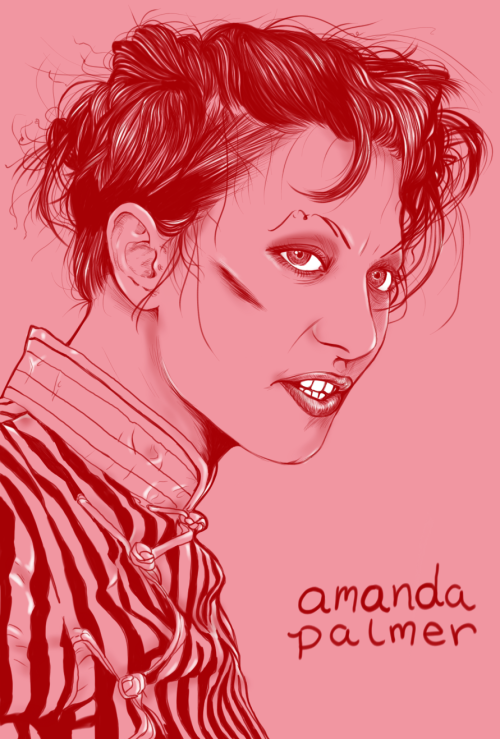 chantalelenamitchell:  amanda palmer  I drew this a week or so ago using Sketchbook Pro, it was fun. Who else should I draw? Chantal