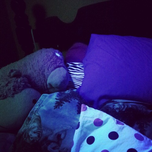 #bed #tired. #stilltired #stuttin #sleepy #dots #zebra #sheets #pillows #pillowpet #legit #compfy #youjelly #whoop  (Taken with Instagram)