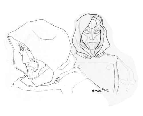 Some Amon sketches. Zooooooom!
