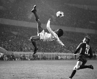 Jairzinho, birth name Jair Ventura Filho, is a former Brazilian footballer. A quick, powerful winger, he was a member of the legendary Brazilian national team that won the 1970 FIFA World Cup, during which he scored in every game Brazil played. In doing so, he became one of only 3 players - the others being Alcides Ghiggia and Just Fontaine - in the history of the World Cup to have scored in every game of the tournament.