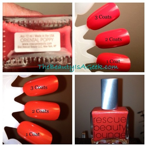 Oriental Poppy from GOMM by @rescuebeauty. #rbl #rescuebeautylounge #nails #nailswatch (Taken with Instagram)