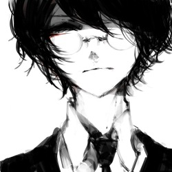 mine anime manga monochrome guy