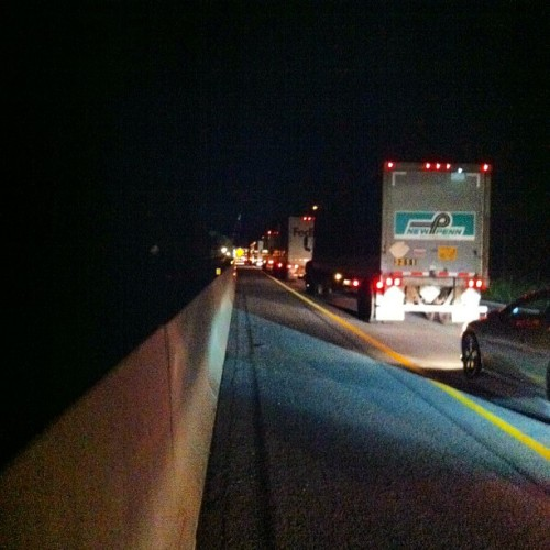 So close to home - but not moving at all #tnna #iphone #roadtrip  (Taken with Instagram)