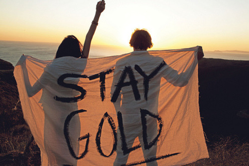 "theflyinglota:  ""Stay gold, Ponyboy. Stay gold."" The Outsiders Because I will forever be an 80s kid at heart."