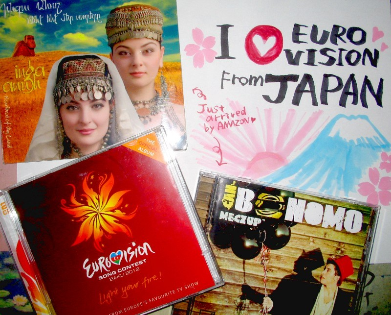 I love EUROVISION !!! Just arrived two CD from amazon. I'm sooooooooo happy now. Please give Japan a voteing rights……