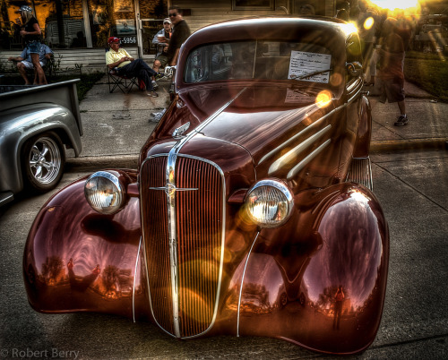 """Cruise Night""   I captured this 1936 Chevrolet coupe on cruise night.  I like the lens flare I think it adds to the image."
