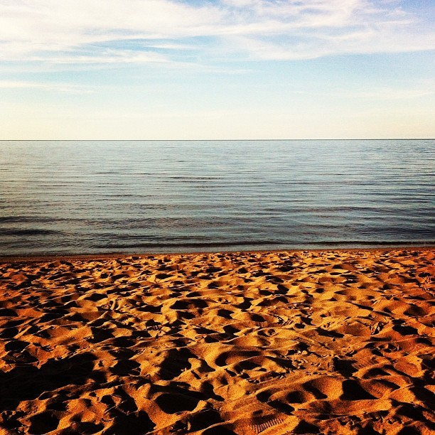 Lake Superior.  (Taken with Instagram at Saxon Harbor)