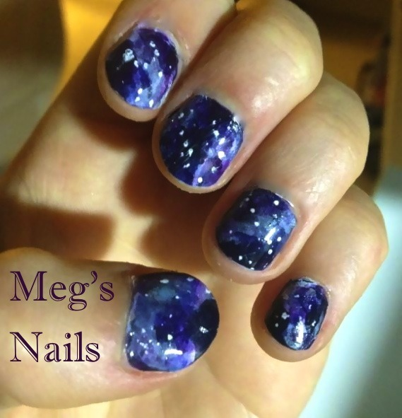 galaxy nails! This weekend I did nails for my sister and her friends, more pictures coming :)