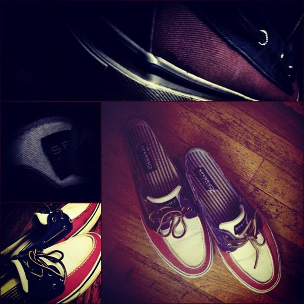 Might bang these out tomorrow #picstich #sperry #topsider #boatshoes #style #fashion #shoes #simple #fly #mtss #morethanswagsociety #lovefashion #filters #redwhiteandblue #july #colors #wood #floors  (Taken with Instagram)