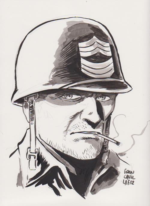Sgt Rock by Francesco Francavilla (by davelevine)