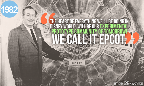 Unfortunately, Walt never got to see EPCOT's opening in 1982. And what's worse, we'll probably never get to see Walt's EPCOT.