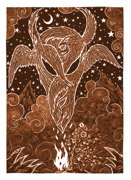 (via Rebirth - Five Flowing Firebirds - Limited Giclee SteamPunk Art, Fantasy Paintings and Pop Surrealism Illustration by Myke Amend)