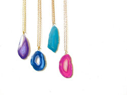 Geode Necklaces - $20.00