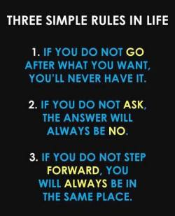 Just 3 simple rules! That's it.