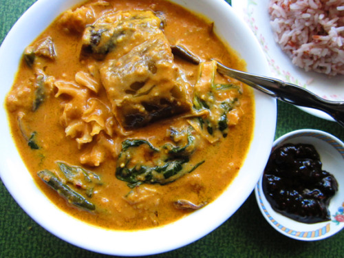 Vegan Kare-kare from Richgail at Astig Vegan! A site dedicated to showing the world that traditional Filipino food can be made vegan. From Richgail:  Traditionally, Kare-kare is a stew with ox tail, cow tripe, and vegetables cooked in thick peanut sauce. My mom and I re-invented it to a vegan delicacy, which not only became cruelty-free and delicious, but healthy too.  Her mom helped, sweet! I love peanut anything so I'm excited to get down with this action. Exciting additional news!: Astig Vegan is holding a summer potluck in Golden Gate Park on Sunday, July 8th! Best vegan dish wins a prize! I know you vegans love competitions!