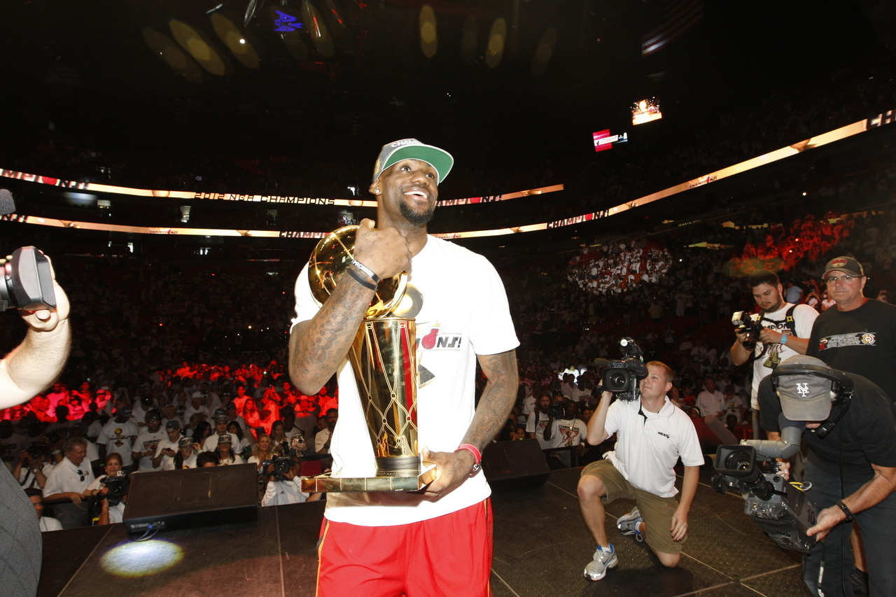 nba:   June 25, 2012: Miami Heat Championship Parade & Rally. (Photo by Issac Baldizon/NBAE via Getty Images)