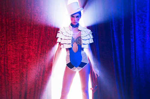 Circus Issue - Women's fashion  Photography by David Ellis @ www.davidellis.co.uk .Styling by Guy Hipwell contact @ guy@fashion156.com.Make-up and hair by Celine Nonon @ Terri Manduca, www.terrimanduca.co.uk.Digital operator and retouching by Christopher Kennedy contact @ email@christopher-kennedy.com .Photographer's assistant: Jamie Bowering .Stylist's assistants: John Francis Bowyer, Liz Dye and Carolina Conte. Model: Bo @ Select.