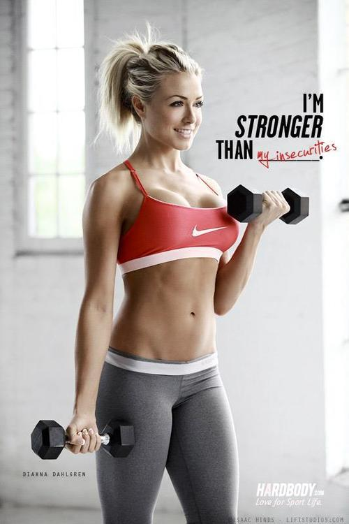 hot-fitness-babes:  I'm stronger then my insecurities