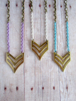 Chevron Necklaces - $18.00