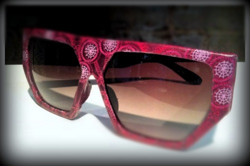 Handcrafted Sunglasses Recycled Fabric Textiles and Alchemy Visit www.samsaraboutique.com