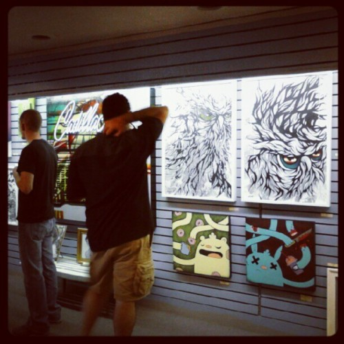 Pushin' Paint. Hanging at Rivers Edge Gallery in Wyandotte until July 27th.