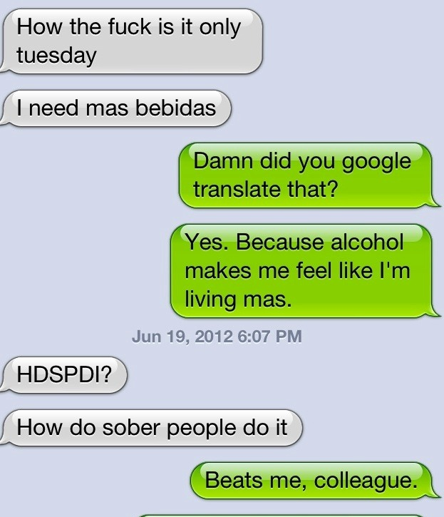 How do sober people do it??