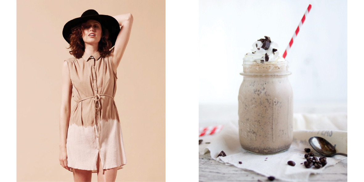 Amy Kaehne Autumn/Winter 2012vCoffee chocolate milkshakeDouble hit