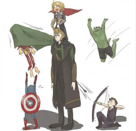 "I think someone not having fun  ""The Avengers"""