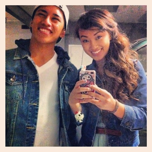 twinsies😂 #denimjackets (Taken with Instagram)
