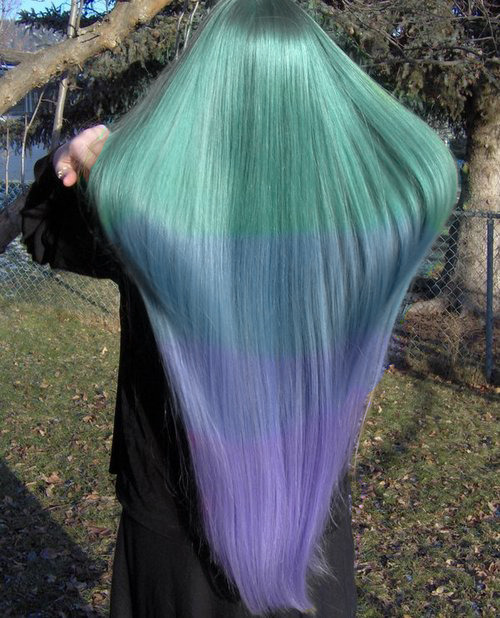 deadlypassion:  So weird my hair was dyed like this last year but my hair isn't that long and mine is curly ha  another year or two and mine will be this long.