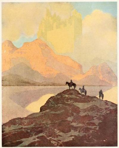 The Arabian nights : their best-known tales (c1909)Illustrations by Maxfield ParrishAnd when they had ascended that mountain they saw a city than which eyes had not beheld greater.